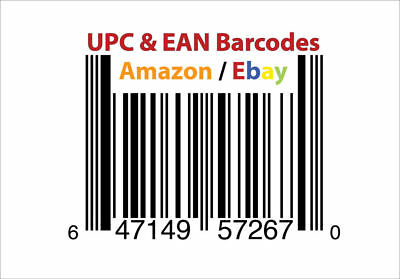 1000 UPC Code for Amazon Listings Certified by GS1 EAN Code Barcode Number