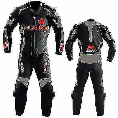 Mens Gsxr Suzuki Biker Leather Suit Racing Motorcycle Leather Jacket Trouser