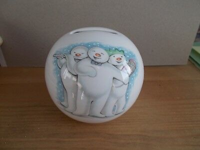Royal Doulton Snowman Porcelain Money Box - New & Unused