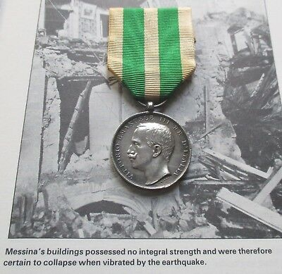1908 Messina Earthquake Medal / Awarded To The Royal Navy Etc