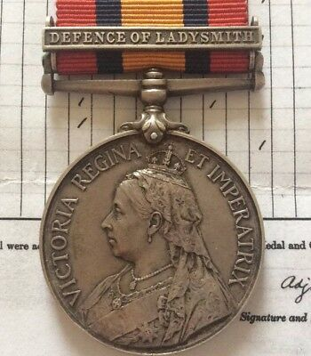 Queen's South Africa Medal, QSA, Defence Of Ladysmith.