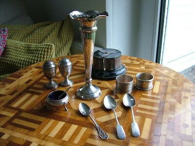 Antique & vintage job lot / collection of solid sterling silver items