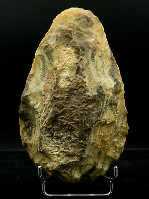 ANCIENT Flint HAND AXE - Acheulean Civilization - 15.5 cm LONG - Sahara