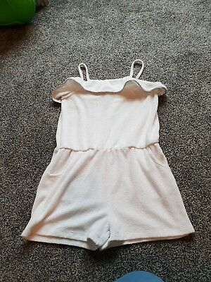 girls Toweling playsuit age 9