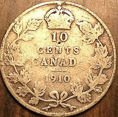 1910 Canada Silver 10 Cents Dime
