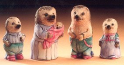 MOULDS ONLY Supercast Mr & Mrs Hedgehog with Family reusable latex moulds