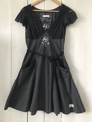 Gorgeous Odd Molly Grey Dress With Lace Detailing.size 1.rrp £145.bnwt.