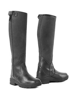 Tall Leather Boot Waterproof Country Riding Yard Boots RRP £195 UK 8(42) BLACK