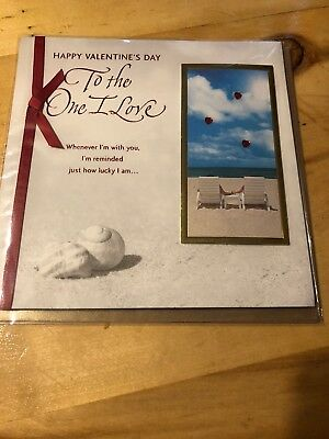 """American Greetings """"For The One I Love"""" Valentines Day Greeting Card- 3-D- NEW"""