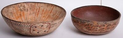 Ancient Pre Columbian Nayarit  Pottery Polychrome Bowls (2)  West Mexico, Ca. 30