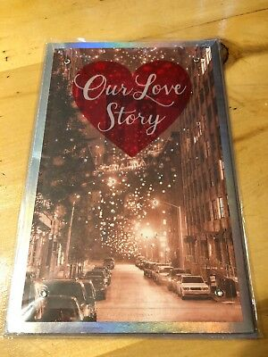 """American Greetings """"Our Love Story"""" Valentines Day Greeting Card- 3-D- NEW"""