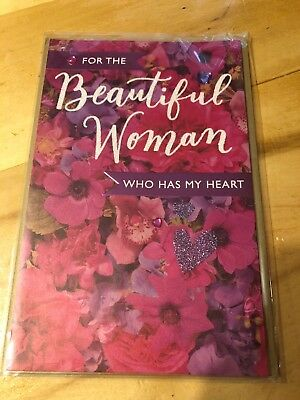 """American Greetings """"For The Beautiful Woman"""" Valentines Day Greeting Card-NEW"""