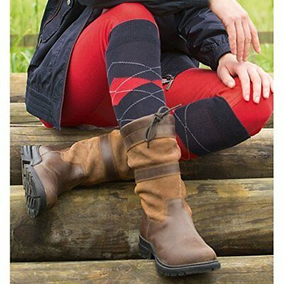 ELT Ladies Mens Outdoor Stable Yard Waterproof Mid Calf Leather Boots Size UK 5