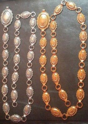 Southwest SANFORD SANCREST R Concho Belts Jewelry Lot of 2 Silver and Gold Color
