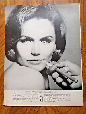 1964 Cigar Ad Tiparillo Gentleman Offer to a Lady?  Lee Remick