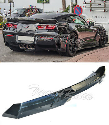 For 14-Up Corvette C7 Carbon Flash Rear Full Spoiler Stage 3 Stingray Z06 Z07