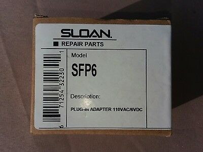 Sloan Sfp6 P Code 0362006 Plug In Adapter 6 Volt Dc Sf Series Faucet New In Box
