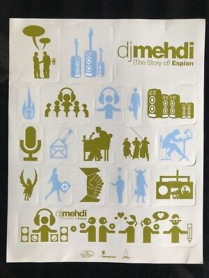 Stickers promo sheet So Me DJ Mehdi LP The Story Of Espion 2002 rare autocollant