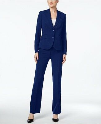 Anne Klein Executive Collection Navy 3 Piece Suit Skirt & Pants Size 12 $280