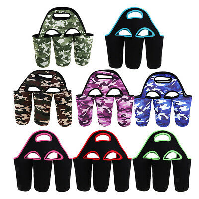 3 Pack Neoprene Baby Bottle Carrier Holder Milk Cooler Tote Warmer Insulator