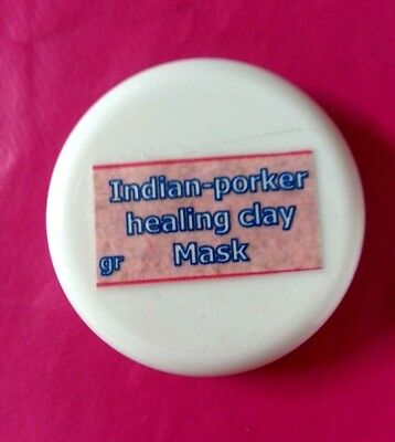 65g indian porker healing clay deep pore cleansing bentonite face and body mask