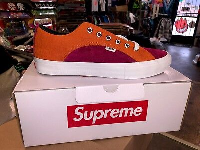 a10ba360ffcf12 Supreme Vans Crocodile Corduroy Lampin Rust Orange CROC SUEDE Size 11 New  In Box