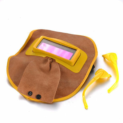 Leather Mask Welding Auto-Darkening Automatic Portable Solar Filter Reliable