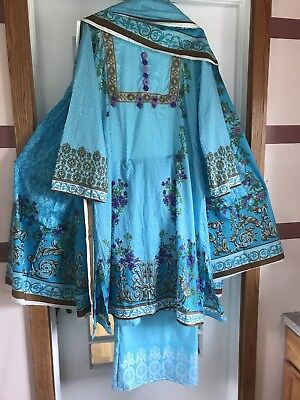 Indian pakistani bollywood designer salwar kameez orient  Soft Good Qualawn