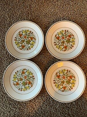 "SET of (4) CORELLE by CORNING ""INDIAN SUMMER"" PATTERN 8 1/2"" LUNCH PLATES"