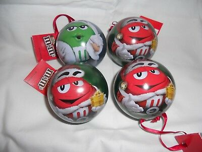 M&M'S® Licensed Character Ornaments-1 green /3 red