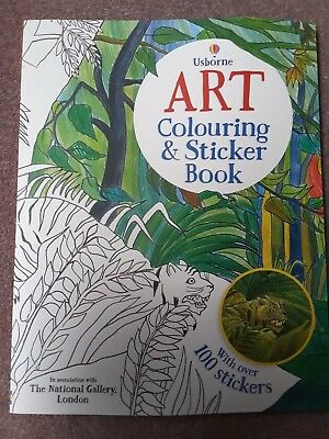 Usborne Art Colouring and Sticker Book National Gallery 100 Stickers