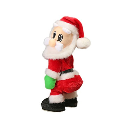 TOYMYTOY Christmas Santa Claus Figure Twisted Hip Twerking Singing Electric Toys