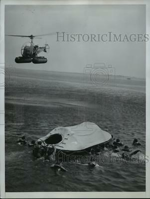 1952 Press Photo New York New Navy Lifeboat by BF Goodrich and US Navy NYC