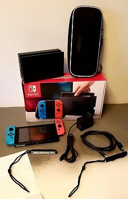 Nintendo Switch -  Console with Neon Red/Neon Blue Joy-Con
