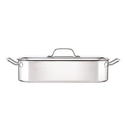 Induction-Safe Stainless Steel Fish Kettle Poacher Steam Pan 45.5 x 15.5 x 10 cm