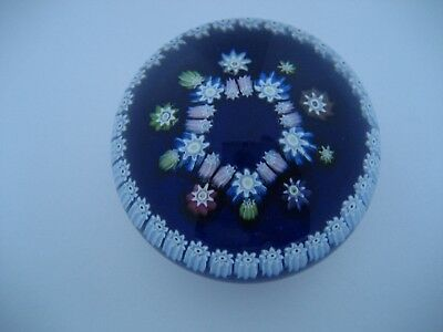 Perthshire Glass PP89  Millefiori Paperweight with Signature P Cane , 1987-1990