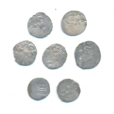 Turkey Ottoman Empire set of 7 middle ages akches dated 14-18 century