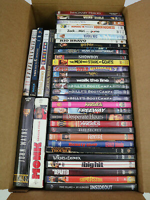 36 Used DVD LOT All Genre Movie Bulk Wholesale Action Comedy Fitness Western