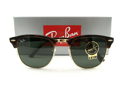 702b459d7b Ray Ban RB3016 Sunglasses W0366 Clubmaster Tortoise Gold Green Authentic New