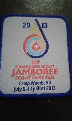 12th Canadian Scout Jamboree Crest Camp Woods, AB 2013 NEW