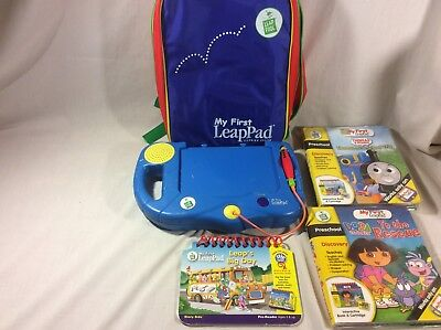 Leap Frog My First LeapPad Learning System With Backpack Case Dora Thomas Train