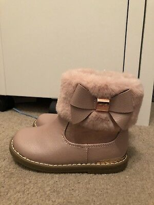 bc6c8e437 BAKER BY TED Baker Girls Faux Fur Cuff Boots - Rose Gold - EUR 22