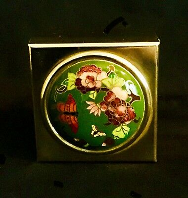 Antique Chinese Cloisonne and Brass Trinket Box Early (1455).