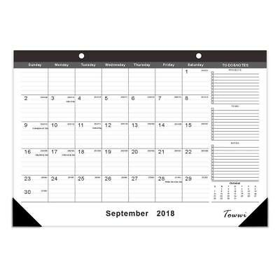 2018-2020 Year Monthly Desk Pad Calendar, Calendar For Daily Schedule Planner