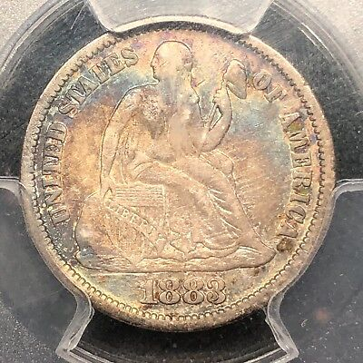 1883 Seated Liberty Dime PCGS VF-25
