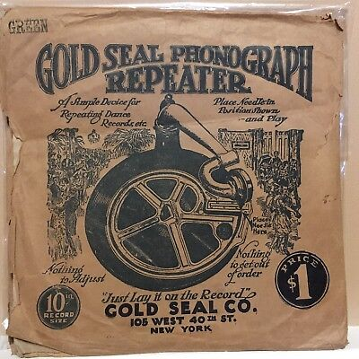 Antique Gold Seal Phonograph Record Repeater w/Original Packaging/Instructions