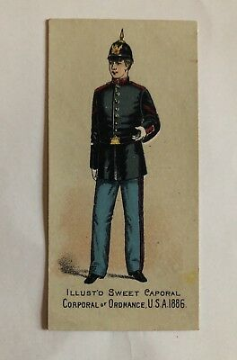 Cigarette Card Sweet Caporal Military Uniforms Corporal Of Ordnance USA 1886