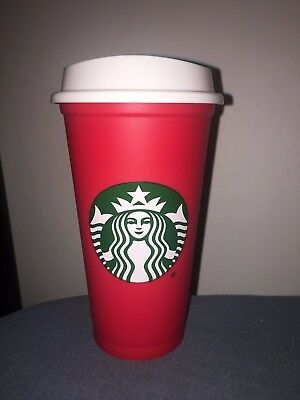 HTF BRAND NEW Starbucks 2018 Red Reusable Christmas 16oz Cup SOLD OUT