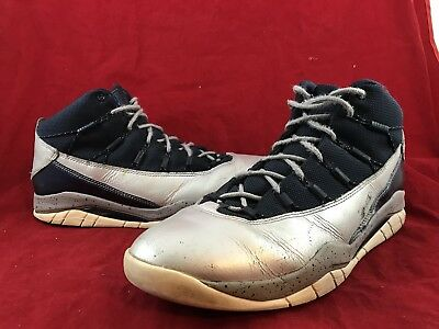 Mens NIKE AIR JORDAN PRIME FLIGHT Obsidian Royal Silver Shoes 616846-407 SIZE 9