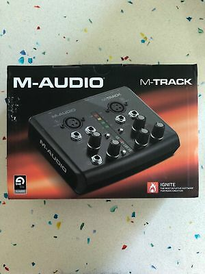 M-Audio M-Track 2 Channel USB Audio / Midi Interface w / Ignite + Ableton Lite